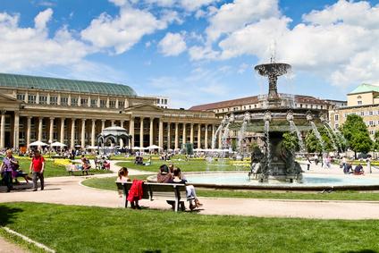 Stuttgart Schlossplatz mit Brunnen